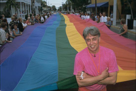 Gilbert Baker Designs First Rainbow Flag